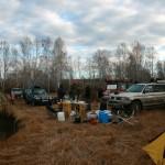 Лагерь внедорожников