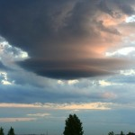 Вот такие облака закручивались по дороге